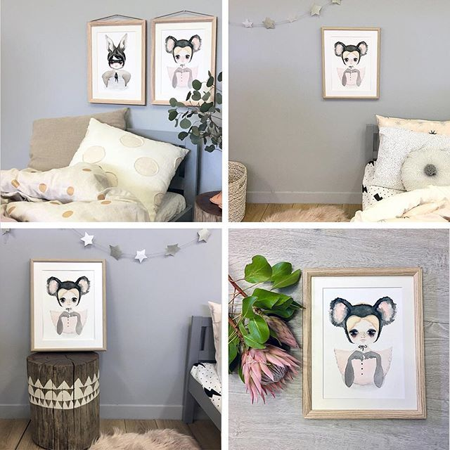 "Look how cute and stylish this Koala Belle print is for a modern kids room. The Violet Eyes ""Wilde Things"" print collection has been made for children's interiors and is perfect for girls and boys nursery and bedroom walls. Printed on textured high quality paper this artwork print features the cuddly koala native to Australia. Shop this look at https://www.violeteyes.com.au/products/koala-girl  Explore our home decor prints for kids at www.violeteyes.com.au"