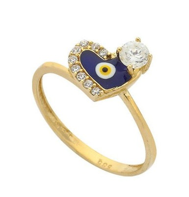 EVIL EYE 14K  YELLOW GOLD  RING DIAMOND LOOK SETTING   ELEGANCE evil eye good luck ring  the item code (YGT-015 )  1.95 GR.  14K(585) STAMPED  HANDMADE   HIGHT QUALITY   EXCELLENT  NEW DESIGN  MADE IN TURKEY   WE ACCEPT SPECIAL ORDER  175 USD