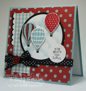 I'd like to make this one using my new Stampin' Up balloon in the YOU'RE AMAZING set