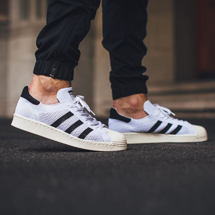 Adidas Superstar 80s Primeknit 'Footwear White/Core Black/Gold Metallic'  Available @
