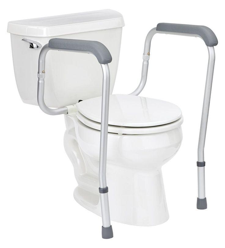 Toilet Safety Rails Elderly Support Handrail Handicap Assist Adjustable Height #ToiletSafetyRails