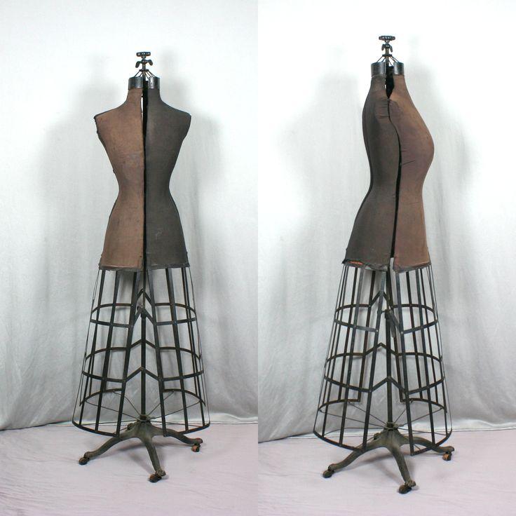 Mannequin de couture réglable, 1908 • Weber antiquités, objets de vitrine, éventails, cannes, mannequins