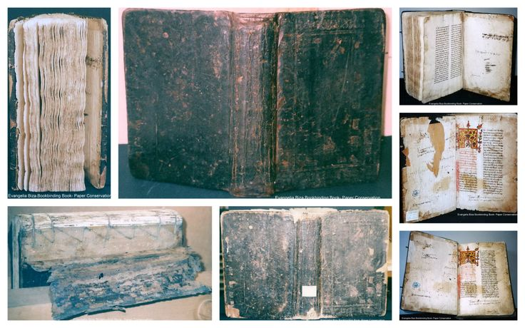 Conservation of leather bound manuscript book with wooden boards