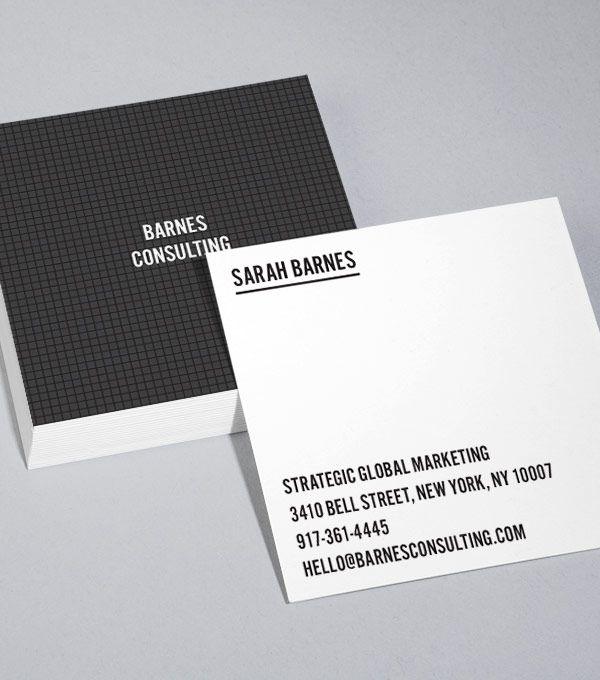 8 best business images on pinterest business card design templates browse square business card design templates reheart Images