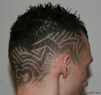 tribal lines hair art and design