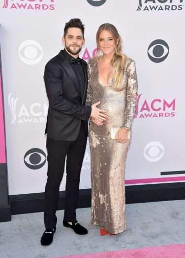 Thomas Rhett and Lauren Gregory Akins attend the 52nd Academy Of Country Music Awards in Las Vegas o... - John Shearer /WireImage