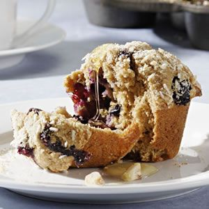 Blueberry-Coconut-Macadamia Muffins...blueberry coconut macadamia nut muffins! :-)