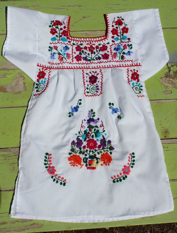 Colorful Baby/ Toddler Mexican Girls Dress by RanchoAlpino on Etsy, $20.00