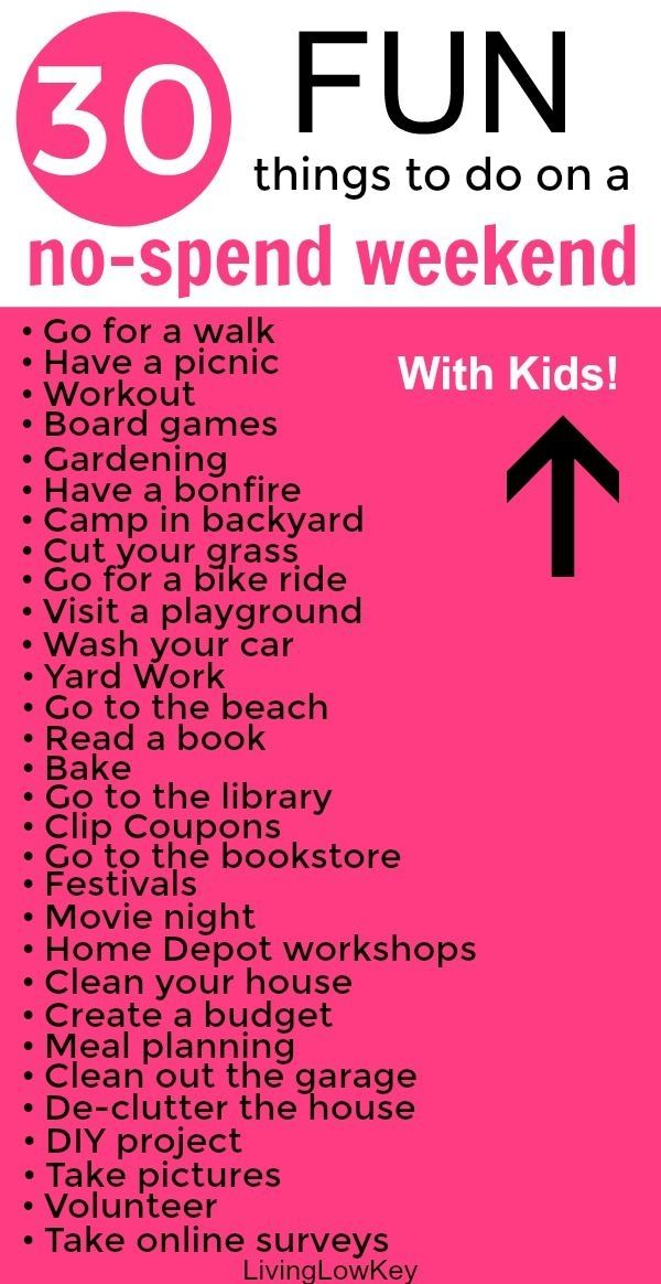 30 Free Things To Do On A No Spend Weekend Summer Family Fun Fun Family Activities Fun Summer Activities