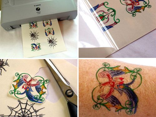 Temporary Tattoo Paper - print your own tattoos from home 8.5x11 inkjet