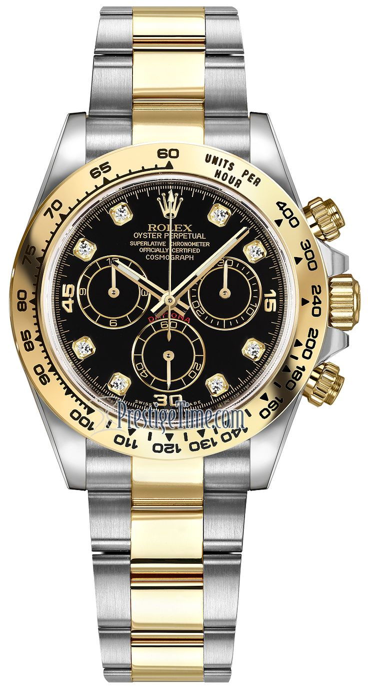 Rolex Cosmograph Daytona Steel and Gold 116503 Black