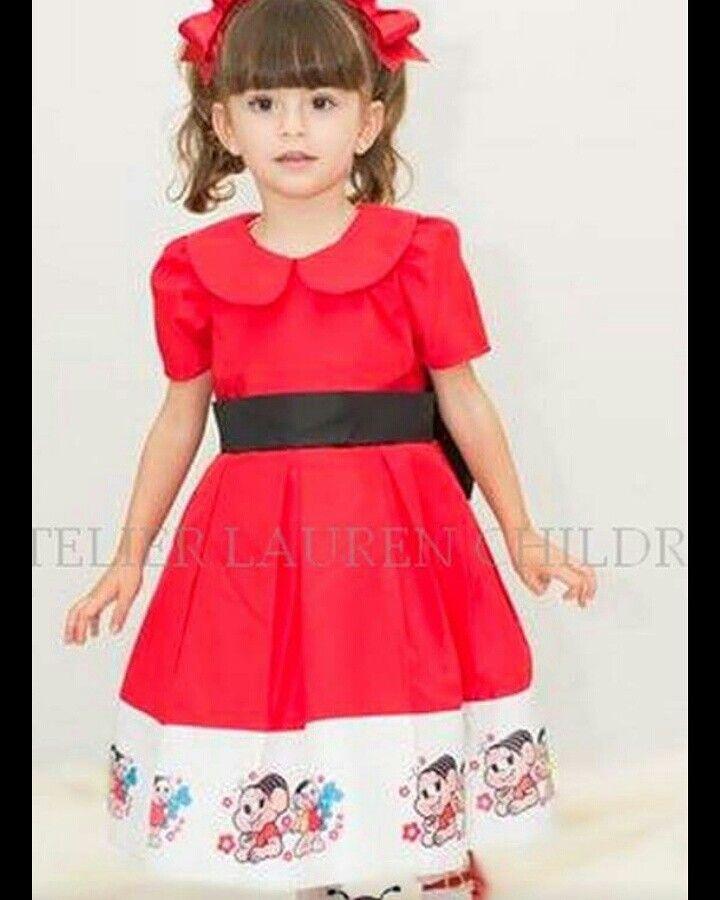 Vestido infantil turma da Mônica
