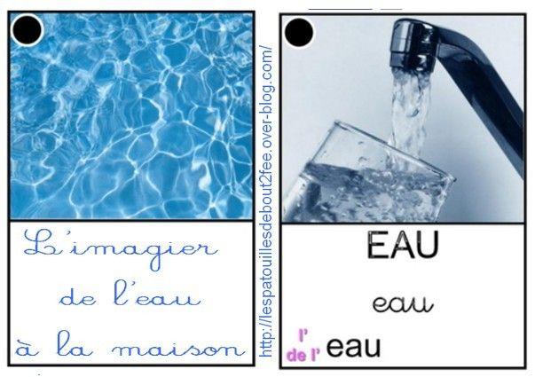 Pendant plusieurs séances de langage en classe, nous avons cherché les différents endroits où l'on pouvait trouver de l'eau à la maison.Quelles utilisations on pouvait en faire? avec quels objets? J'ai ensuite fait un petit imagier. Certaines images sont...