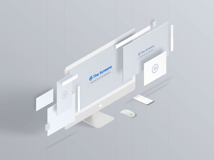 Perspective iMac Screen Mockup