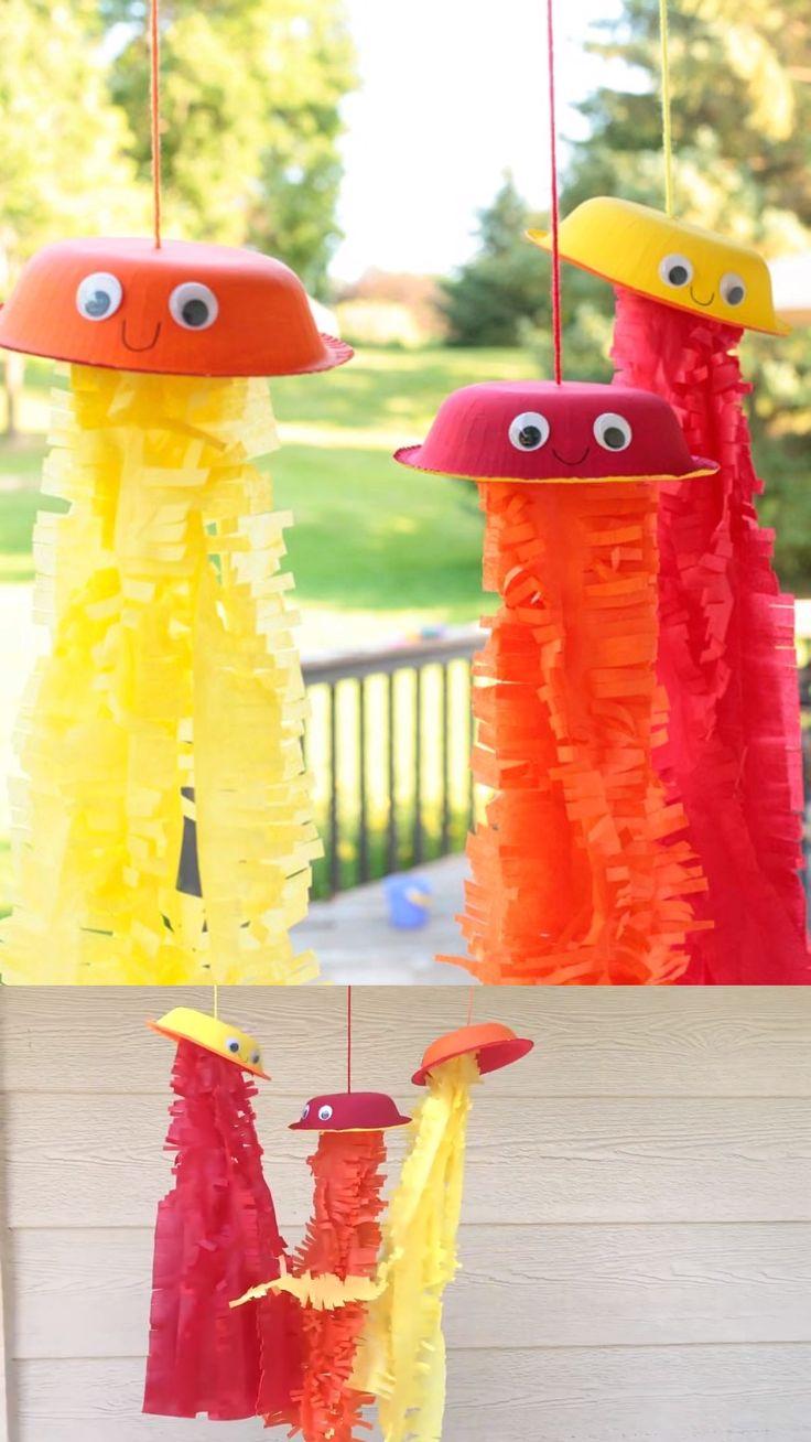 Jellyfish windsocks craft