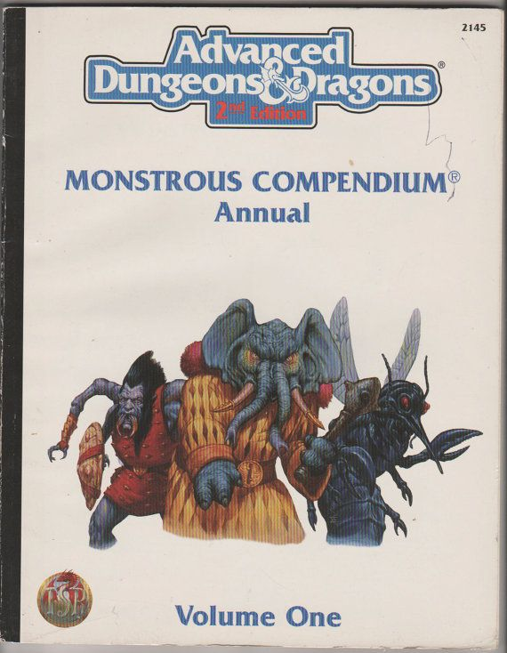 1994 Advanced Dungeons and Dragons Monstrous by RubbersuitStudios, $6.95 #dungeonsanddragons #roleplayinggames