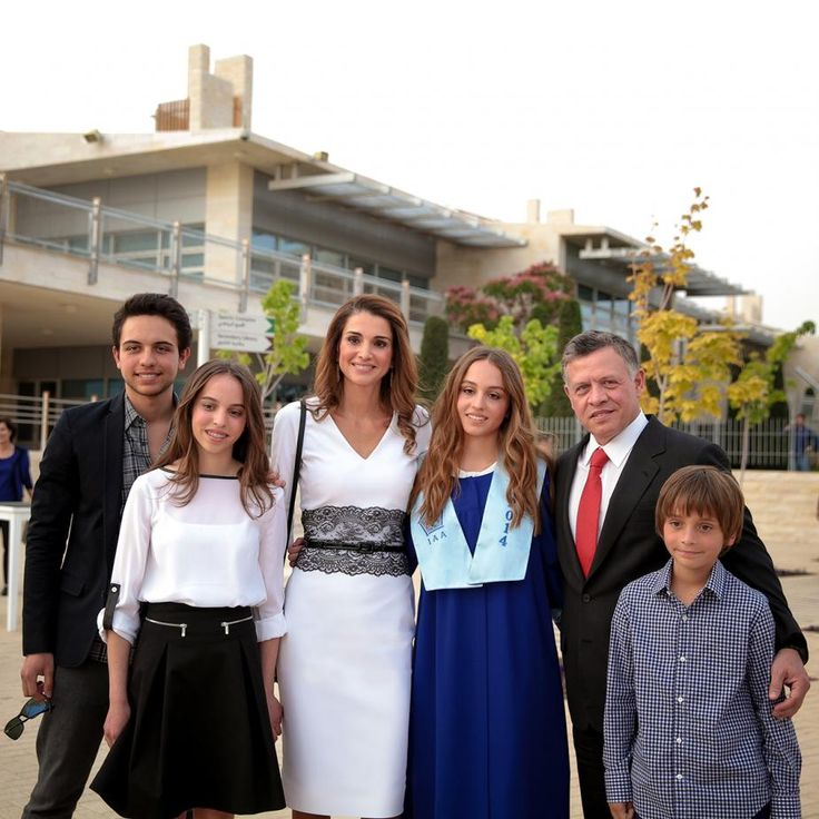 King Abdullah queen Rania crown prince Hussein princess ...