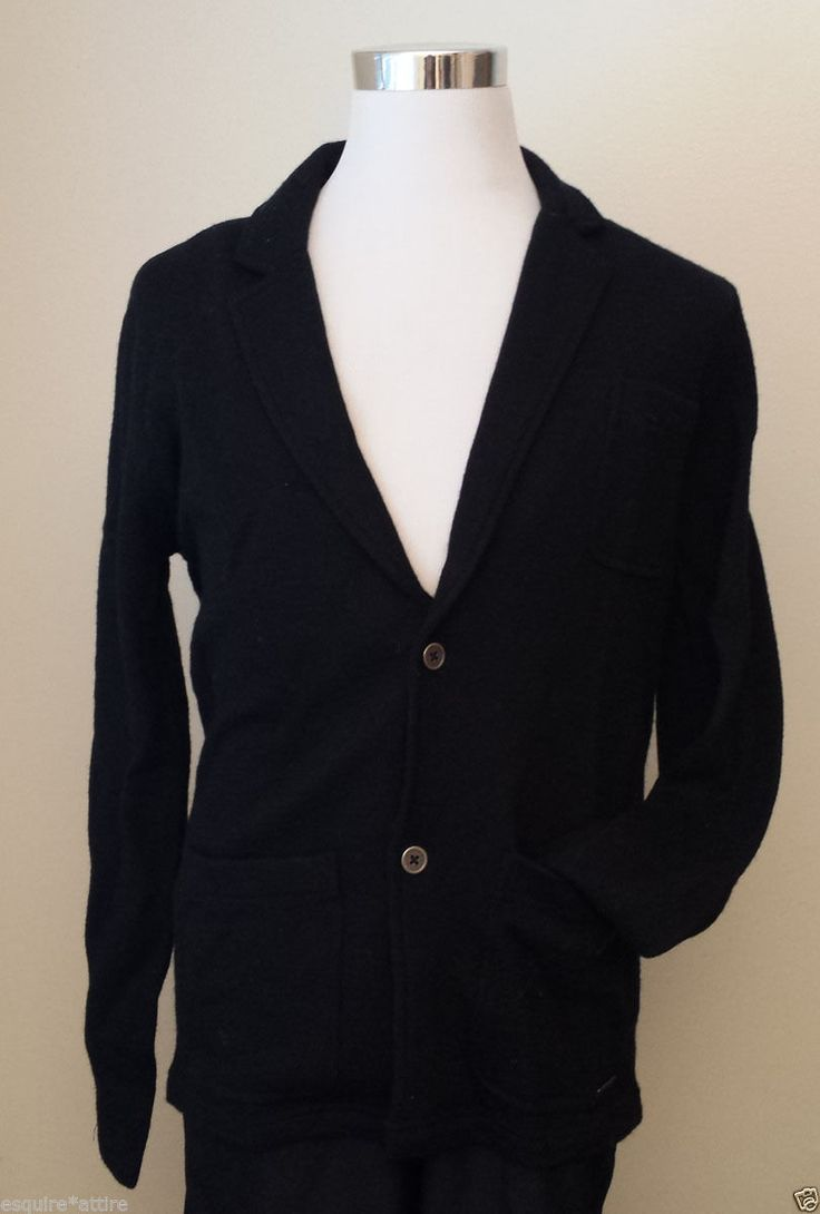 Michael Kors men size M black #wool cardigan sweater NWT (ret $159) MichaelKors visit our ebay store at  http://stores.ebay.com/esquirestore