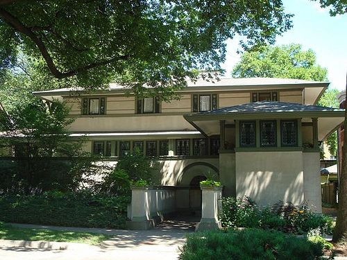 167 best frank lloyd wright houses images on pinterest for Frank lloyd wright craftsman