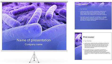Bacteria PowerPoint Template Free Template Presentation Background