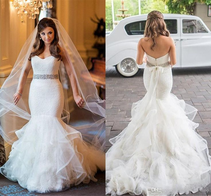 Best 10 fairytale wedding dresses ideas on pinterest for Plus size trumpet wedding dress with sleeves