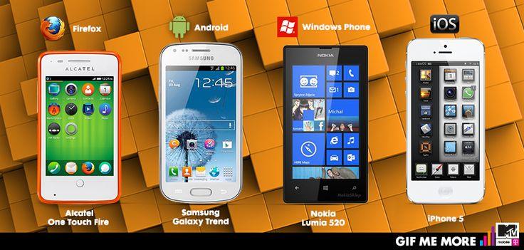 Który system operacyjny wybierzesz?   Zajrzyj do esklepu: http://www.mtvmobile.pl/esklep/mix-z-tanszym-telefonem/