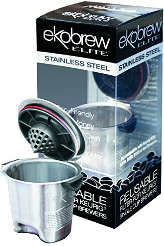 Ekobrew Stainless Steel Elite Cup, Refillable K-Cup For Keurig K-Cup Brewers - http://www.freeshippingcoffee.com/k-cups/ekobrew-stainless-steel-elite-cup-refillable-k-cup-for-keurig-k-cup-brewers/ - #K-Cups