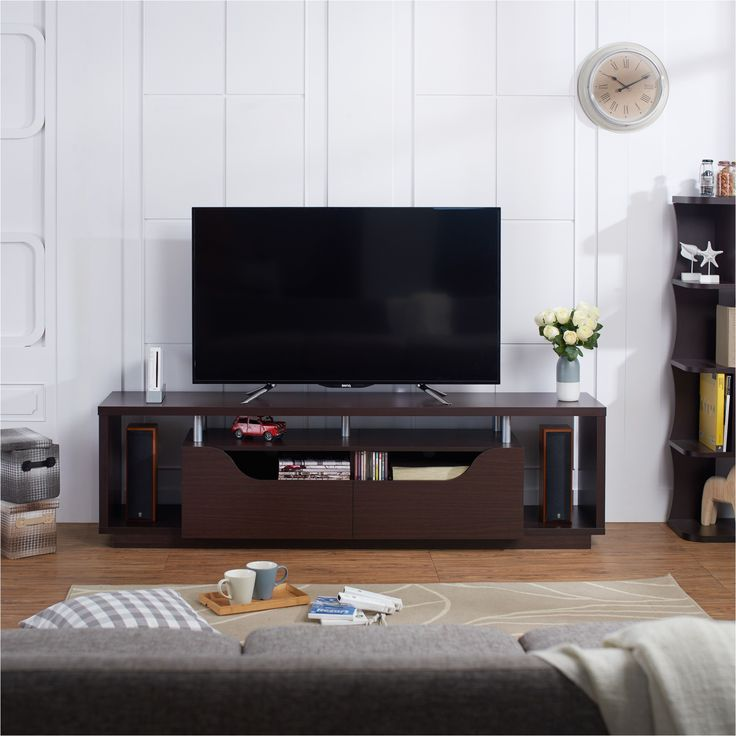 Furniture of America Arkyne Modern Espresso 70-inch TV Stand (Espresso), Brown