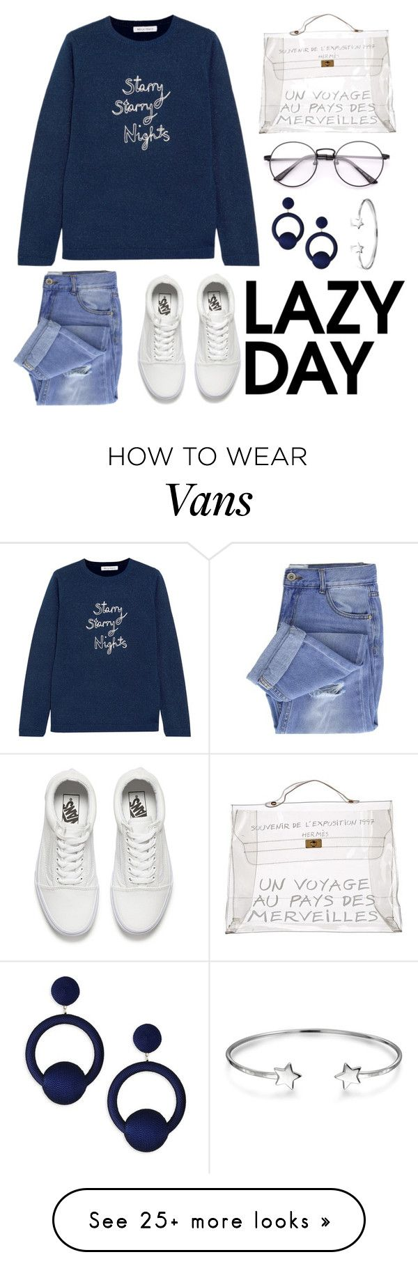 """""""Untitled #329"""" by c-dot on Polyvore featuring Bella Freud, Taya, Hermès, Rebecca de Ravenel, Vans, Bling Jewelry and LazyDay"""