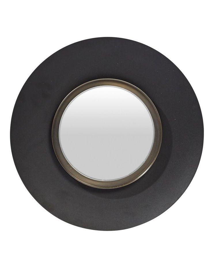 mirrordeco.com — Lola - Round Wall Mirror Medium Black Frame Dia: 40cm