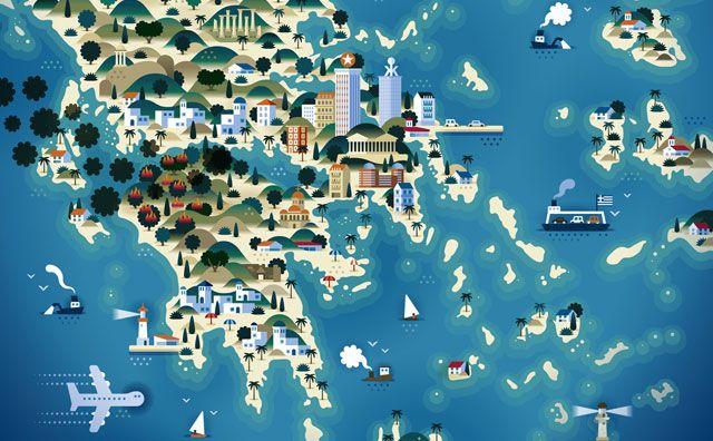 Impressive Map Illustrations By KHUAN KTRON
