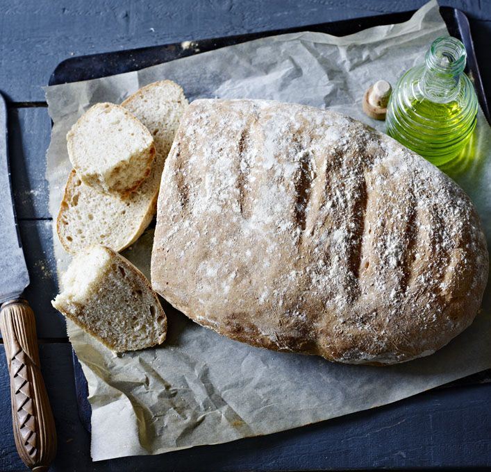 Rustic Spanish bread (Pan Rustico). With the starter mix, it's halfway to a sourdough and it's a good old-fashioned hearty bread that keeps well