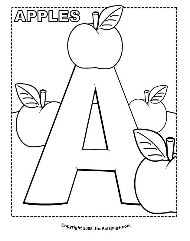 Printable Coloring Pages For Preschoolers Printable Coloring Pages For  Preschoolers At G… Alphabet Coloring Pages, Kindergarten Coloring Pages,  Abc Coloring Pages