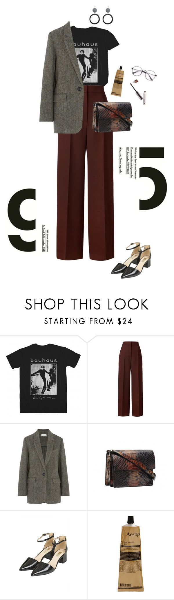 """Untitled #181"" by palina-parker ❤ liked on Polyvore featuring Bela, Rosetta Getty, Étoile Isabel Marant, Topshop and Aesop"