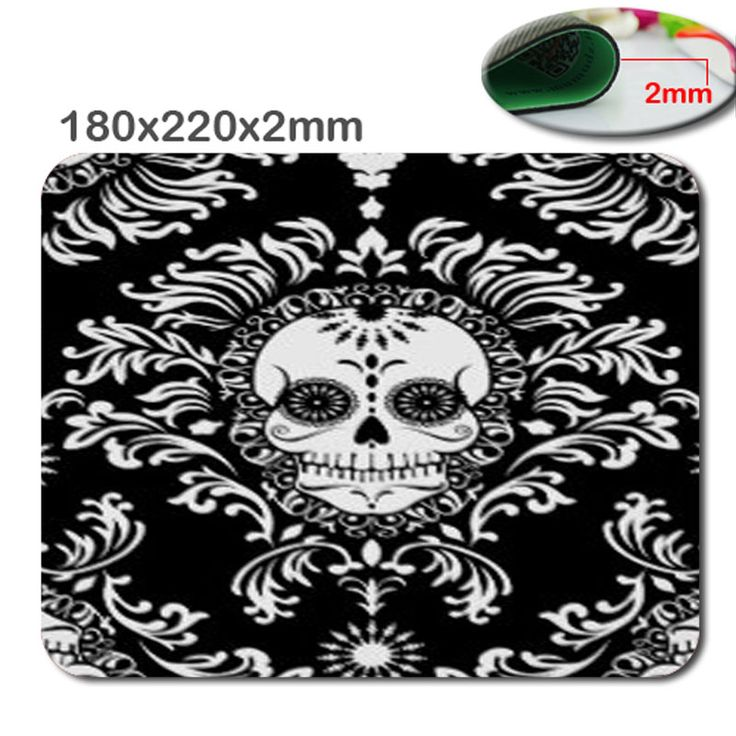 Quick print size is180 x220x2mm antiskid Durable Dead Damask - Chic Sugar Skull Gaming Mouse Pad - Durable Office Accessory Gift