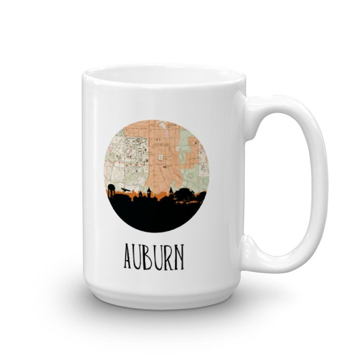 Auburn City Skyline Mug