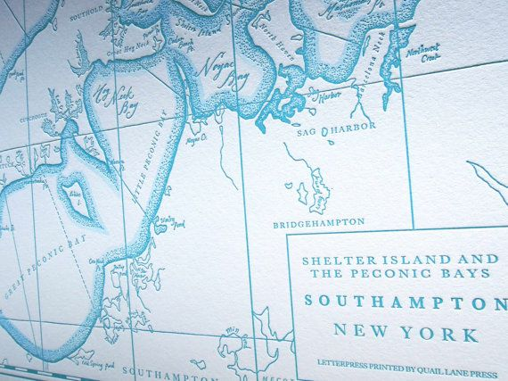 Southampton Long Island NY Letterpress printed by quaillanepress