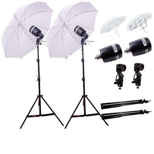 """33"""" White Studio Umblrella Godox SY3000 Flash Strobe Light Stand E27 holder kit #Godox"""