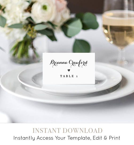 This listing is an INSTANT DOWNLOAD that includes a high resolution, printable Escort / Place Card Template. Access your template within minutes of purchase using TEMPLETT - A fully customizable template editor that allows you to personalize your printable directly in your web