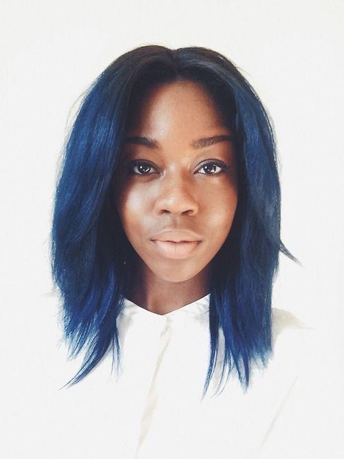 Girl With Dark Blue Hair Tumblr