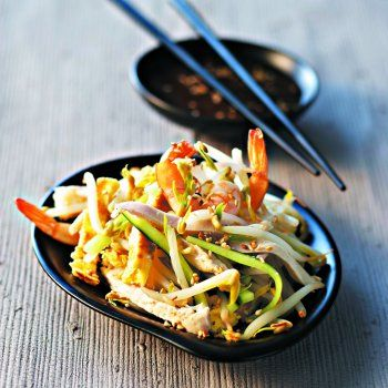 Salade orient-express aux germes de soja