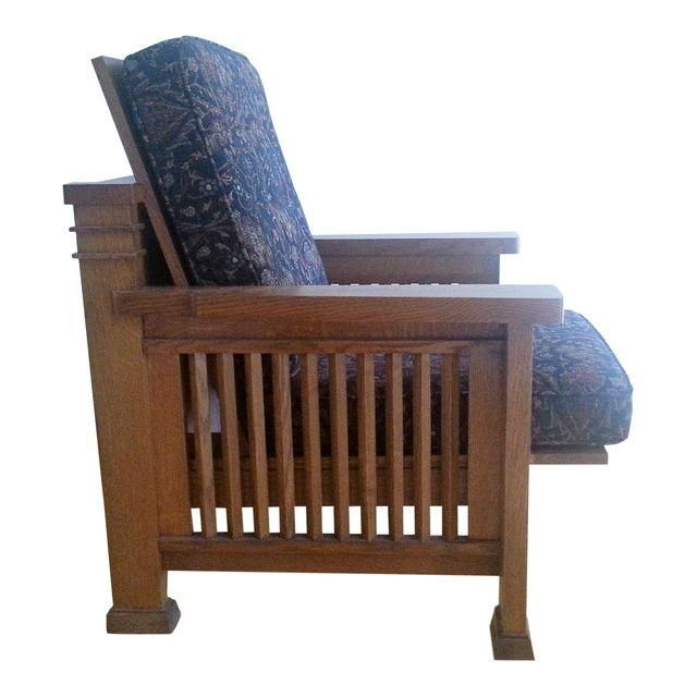 Frank Lloyd Wright Style Reclining Chair for sale on Chairish.