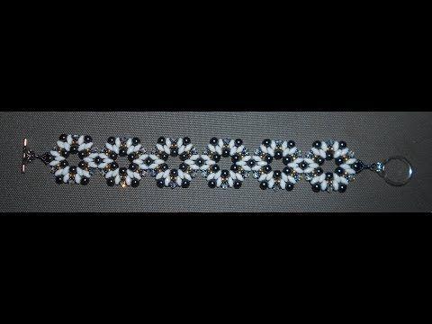 ▶ Gallant Beauty Bracelet video beading tutorial by Ezeebeady - YouTube