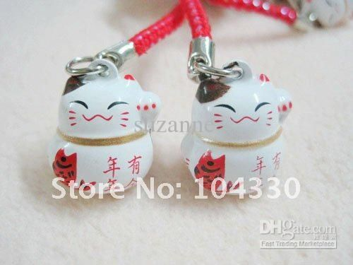 Anime Cell Phone Charms | ... 100pc Japan Anime Lucky Cat Phone CHARM new bells Mobile Charms Straps