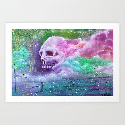 Skull Cloud Art Print by Laura Barbosa Art - $17.68