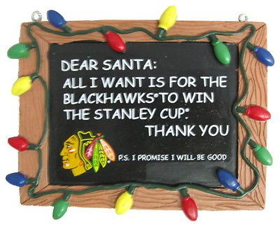 chicago blackhawks nhl hockey chalkboard holiday christmas ornament - Blackhawks Christmas