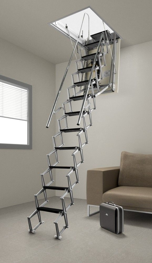 Fantozzi Electric Aluminium Concertina Loft Ladder From