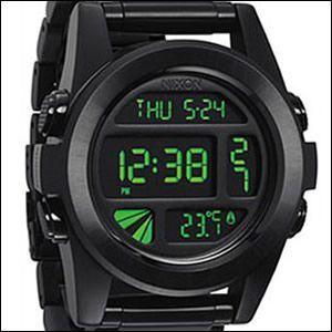 ニクソン NIXON 腕時計 A360-032 THE UNIT SS ユニット All Black/Green メンズ