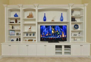 Custom Built Entertainment Centers traditional media storage