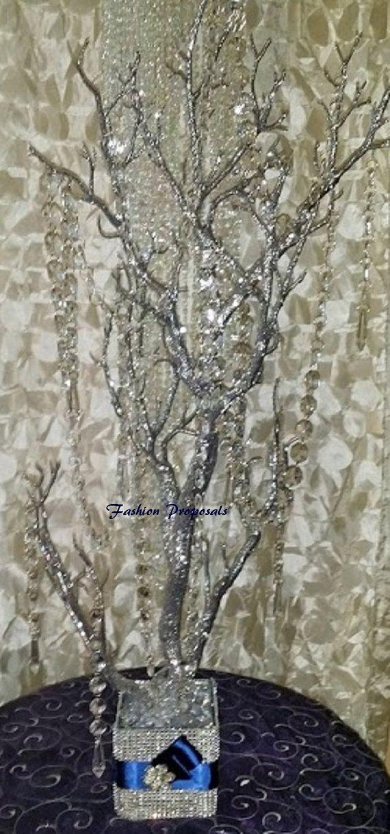 Manzanita tree bling Centerpiece Silver by FashionProposals